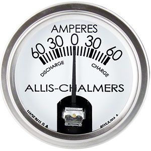 Ammeter Gauge (60-0-60) for Allis Chalmers B, D12, 190XT and More