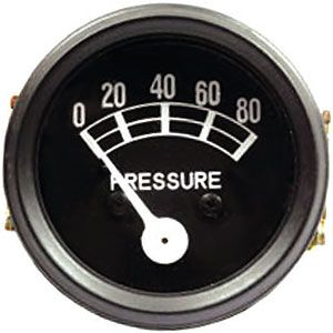 Universal Oil Pressure Gauge (0 - 80 PSI) for Allis Chalmers, Ford (1939-1964), Massey Ferguson and More